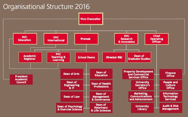 Organisational structure 2016