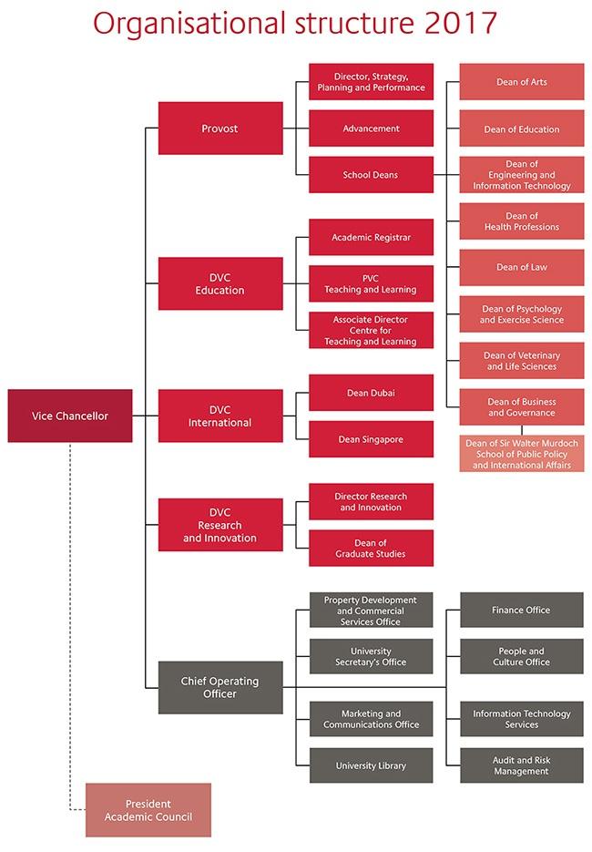 Organisational structure 2017