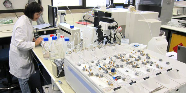 Scientist in Laboratory with equipment