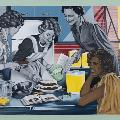 Sandra HILL, Homemaker #7 (Cake Making), 2012. Acrylic on canvas. 76 x 91 cm. Purchased 2012.