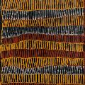 Freda WARLAPINNI, Pwoja-Pukumani, 2002. Natural earth pigments and binder on paper, 77 x 57 cm. Purchased 2013