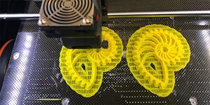 3D printer printing in progress