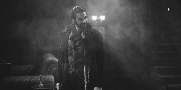 An actor performs in Frankenstein at Murdoch's Nexus Theatre.
