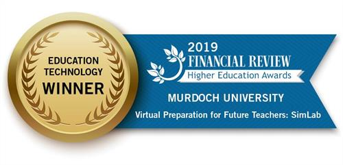 Education Technology Winner Badge for the 2019 Financial Review Higher Education Awards