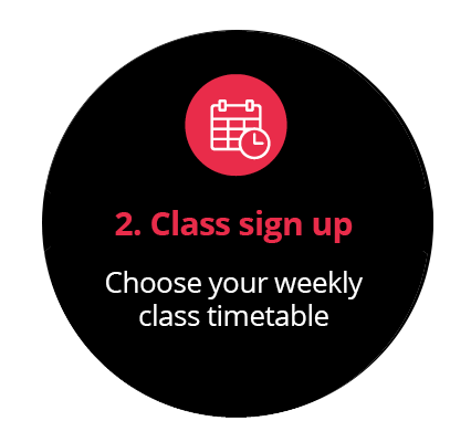 Choose your weekly class timetable